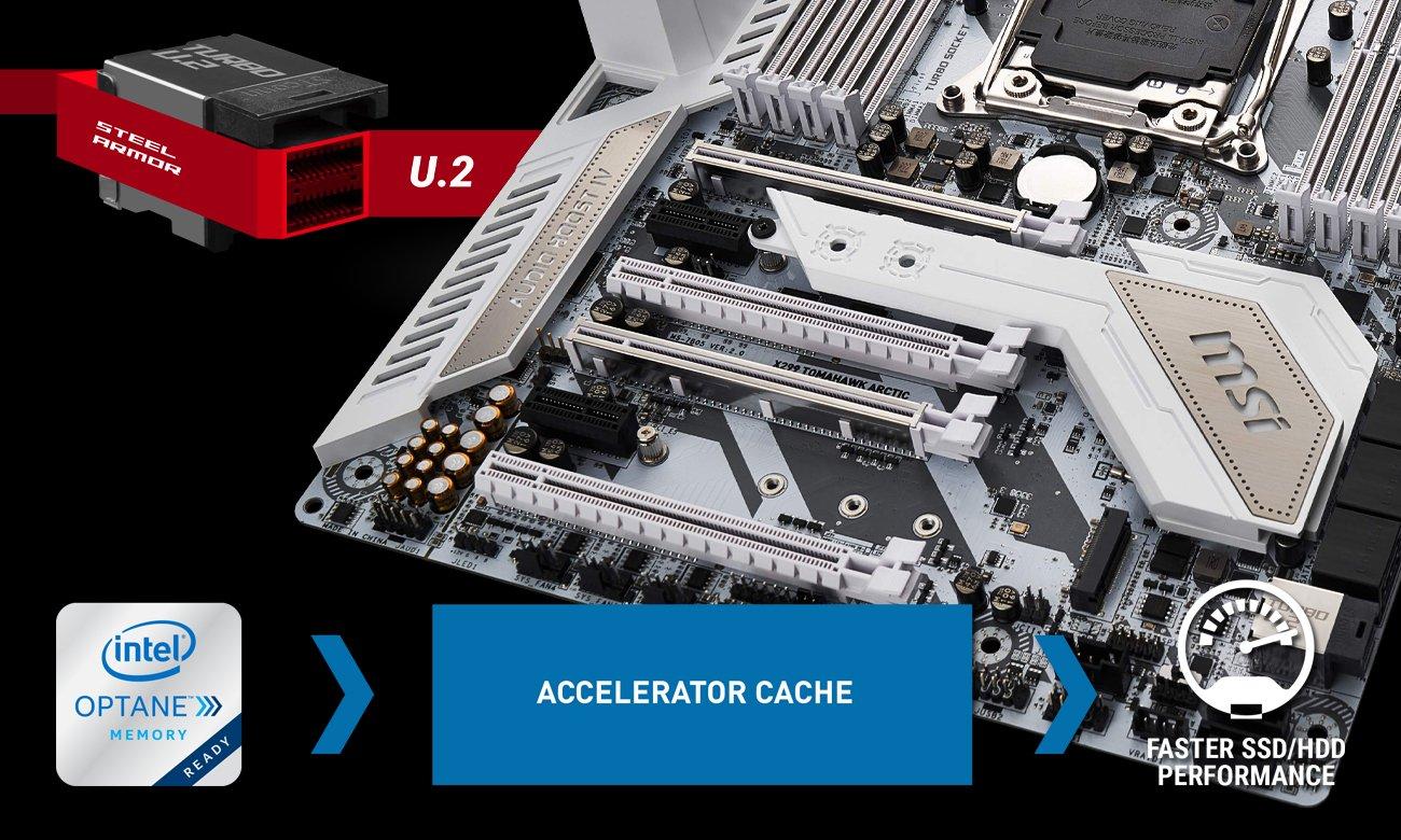 MSI X299 TOMAHAWK ARCTIC Wydajność pamięci M.2 U.2 Intel Optane
