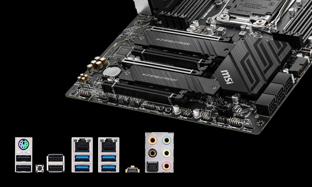 MSI X299 PRO - Złącza M.2, USB