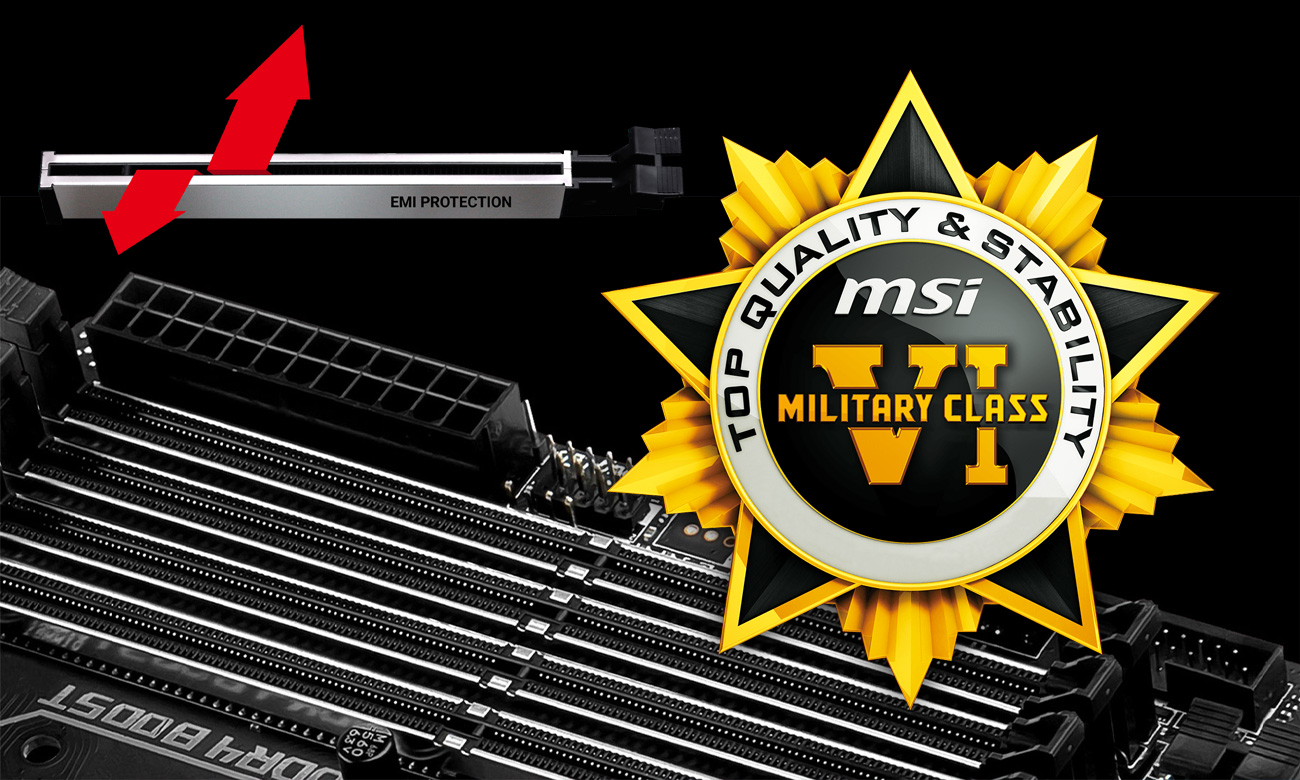MSI X399 GAMING PRO CARBON AC Military Class 6 Steel Armor