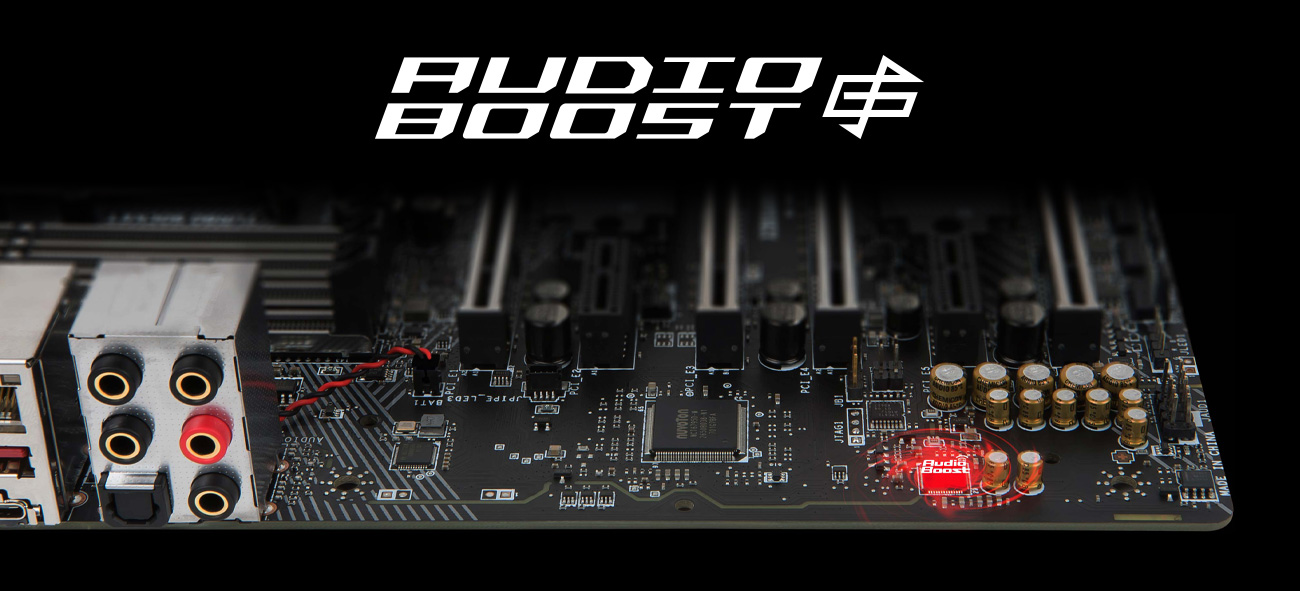 MSI X399 GAMING PRO CARBON AC Audio Boost 4