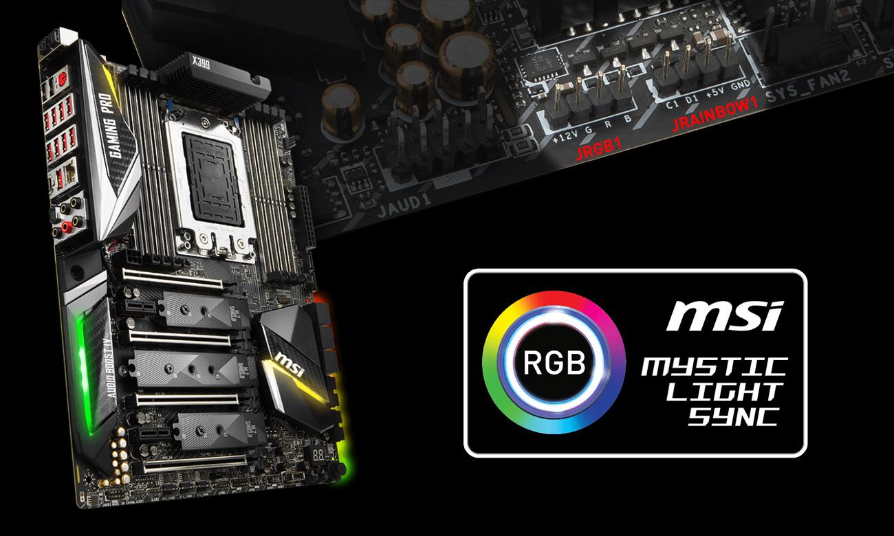 MSI X399 GAMING PRO CARBON AC Mystic Light Sync