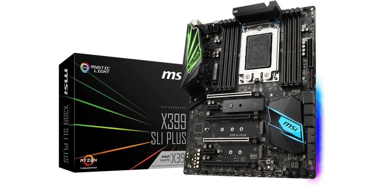 Płyta główna Socket TR4 MSI X399 SLI PLUS PCI-E DDR4 USB 3.1 / M.2