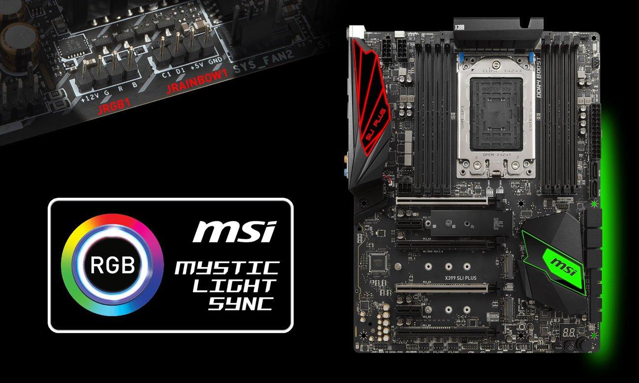 MSI X399 SLI PLUS RGB Mystic Ligth Sync