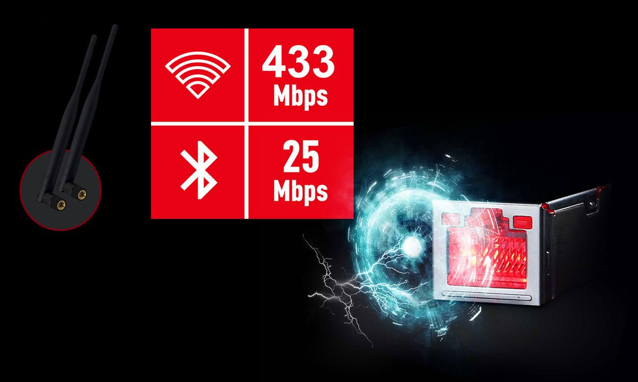 MSI X470 GAMING PRO CARBON AC Dwie karty sieciowe