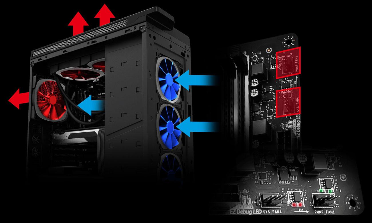 MSI X470 GAMING PRO CARBON AC Zarządzanie chłodzeniem