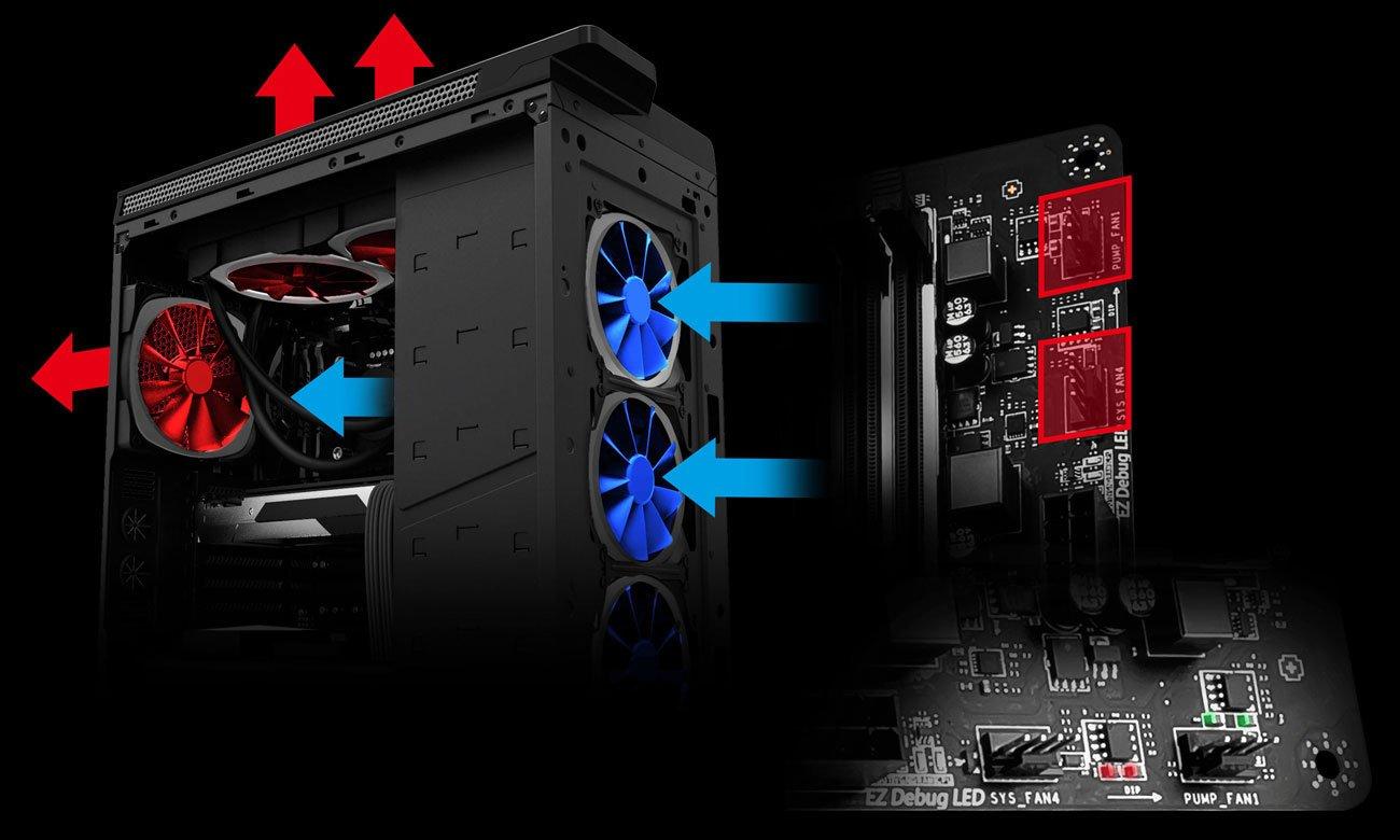 MSI X470 GAMING PRO CARBON Zarządzanie chłodzeniem