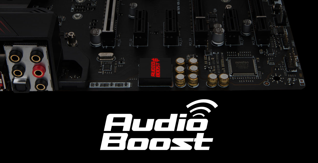 MSI X470 GAMING PRO Technologia Audio Boost 4