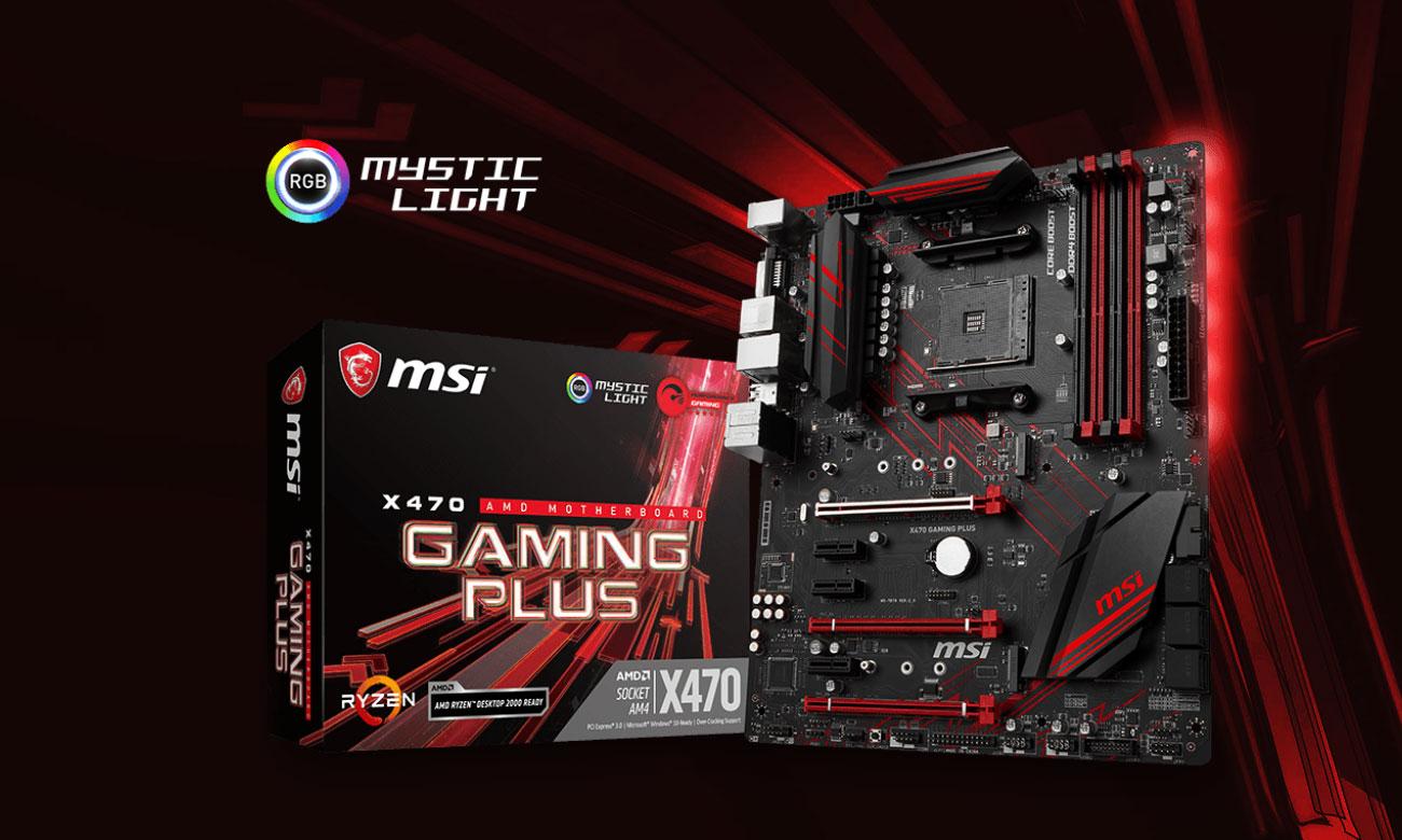 MSI X470 Gaming Plus Płyta główna do konkretnego gamingu