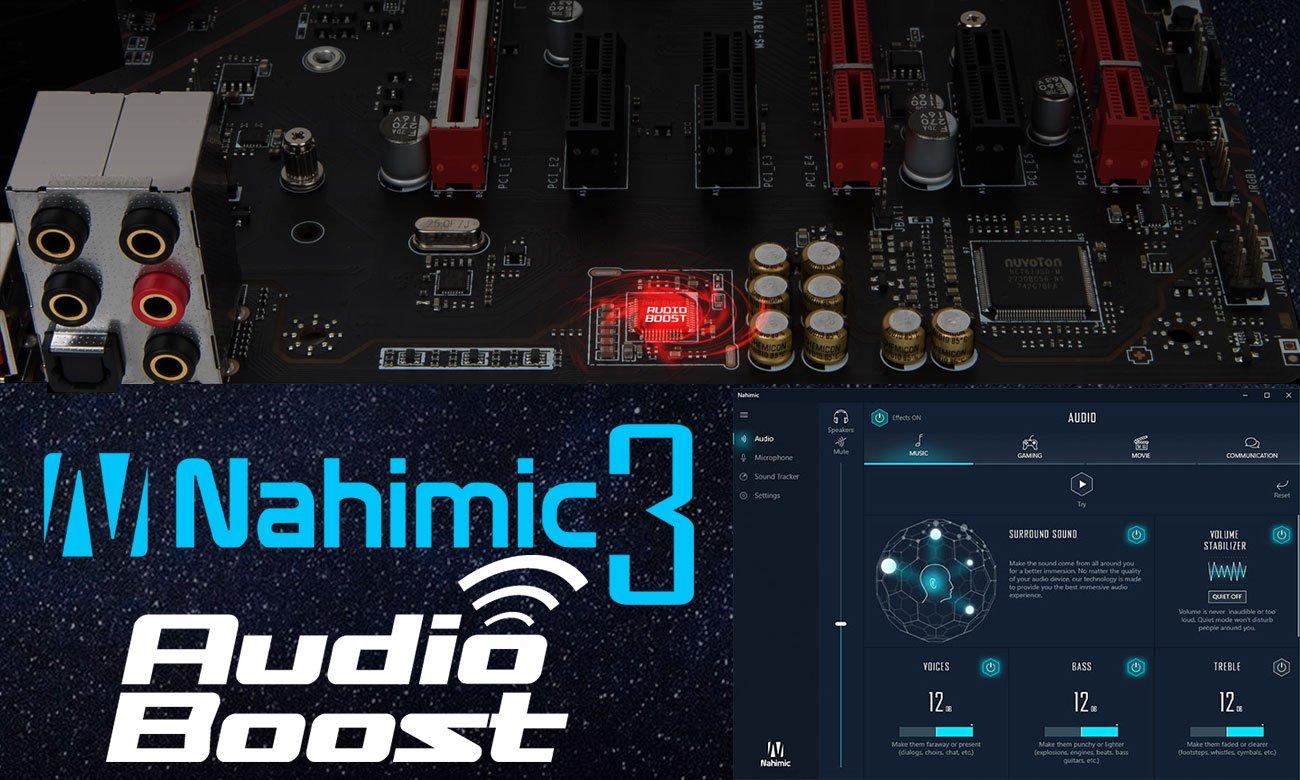 MSI X470 Gaming Plus Nahimic 3 z systemem Audio Boost