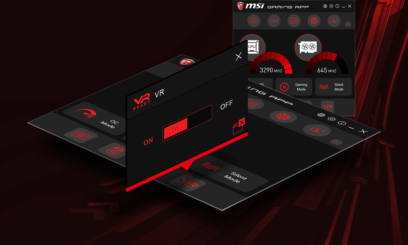 MSI X470 Gaming Plus Funkcja One Click to VR