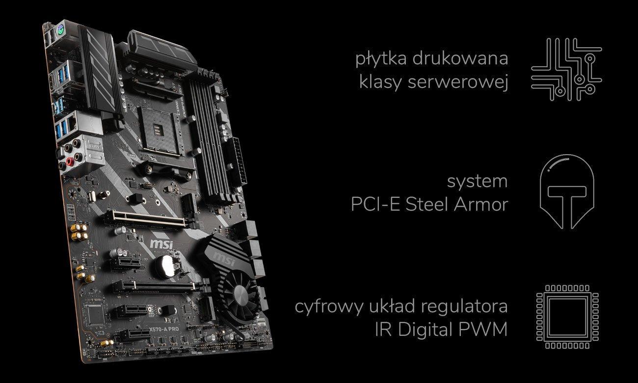 MSI X570-A PRO - Wytrzymałość