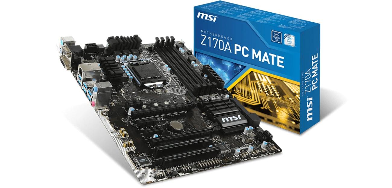 Płyta główna s1151 MSI Z170A PC MATE (2xPCI-E DDR4)