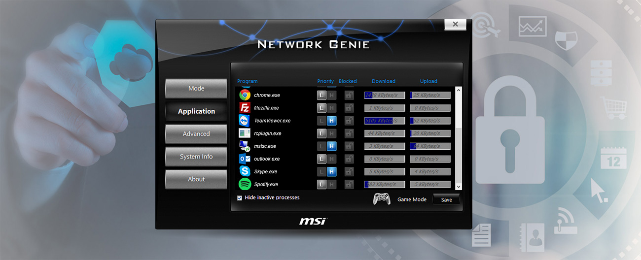 MSI Z170A PC MATE Oprogramowanie Network Genie