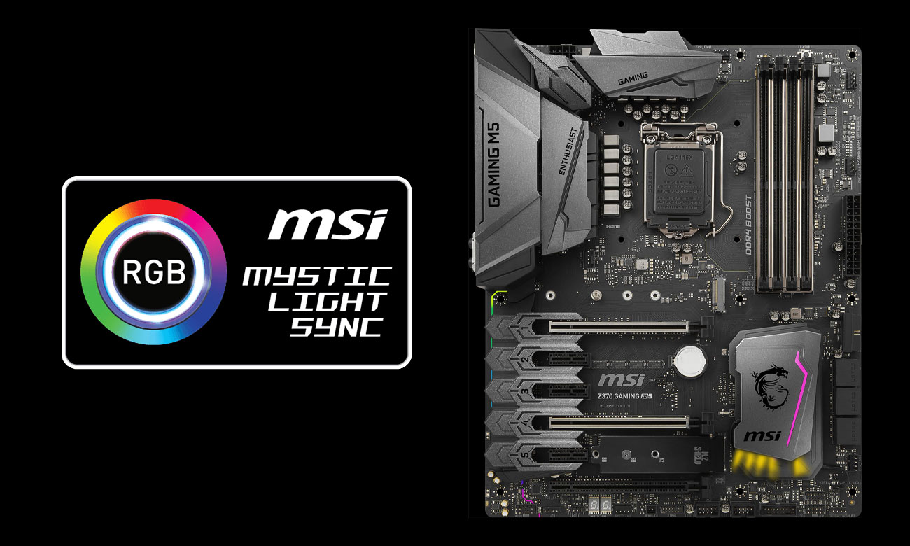 MSI Z370 GAMING M5 Mystic Light Sync
