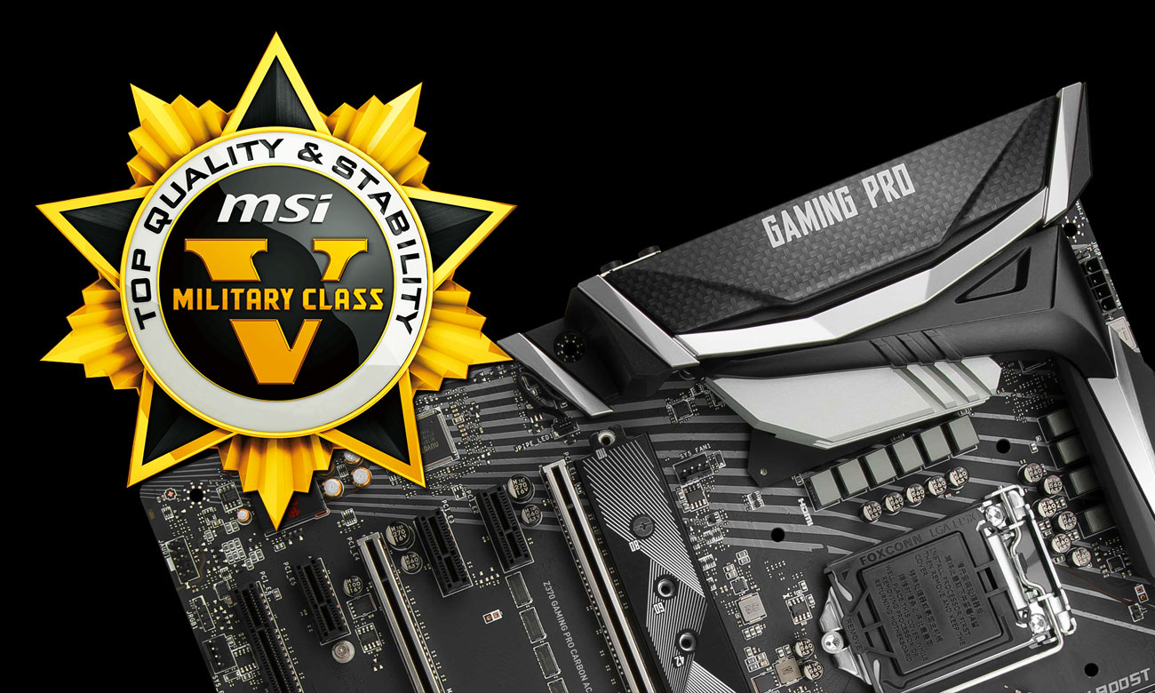 MSI Z370 GAMING PRO CARBON AC Military Class 5