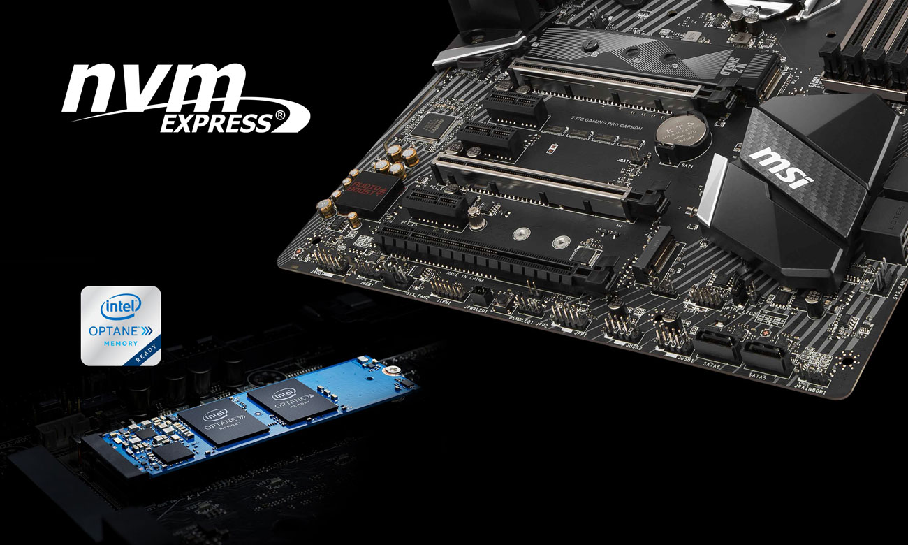 MSI Z370 GAMING PRO CARBON Turbo M.2 NVMe Intel Optane