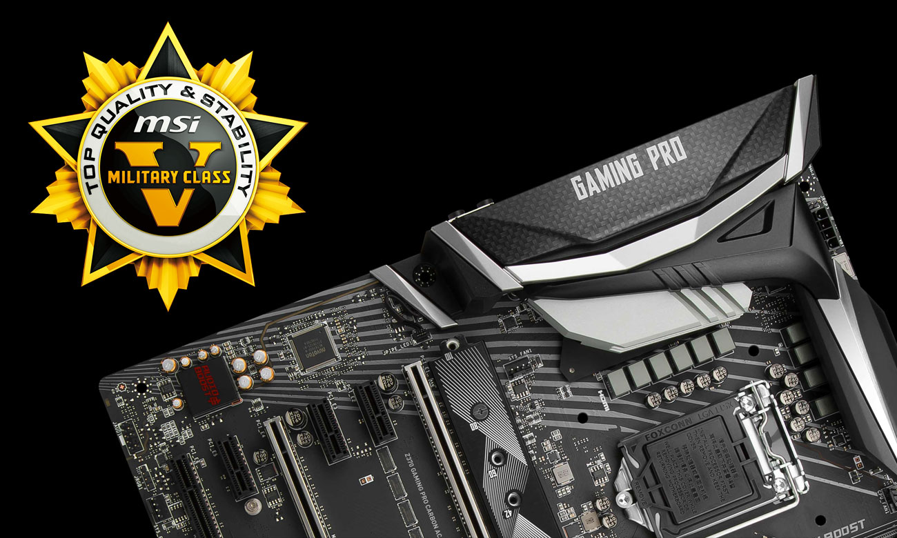 MSI Z370 GAMING PRO CARBON Military Class 5