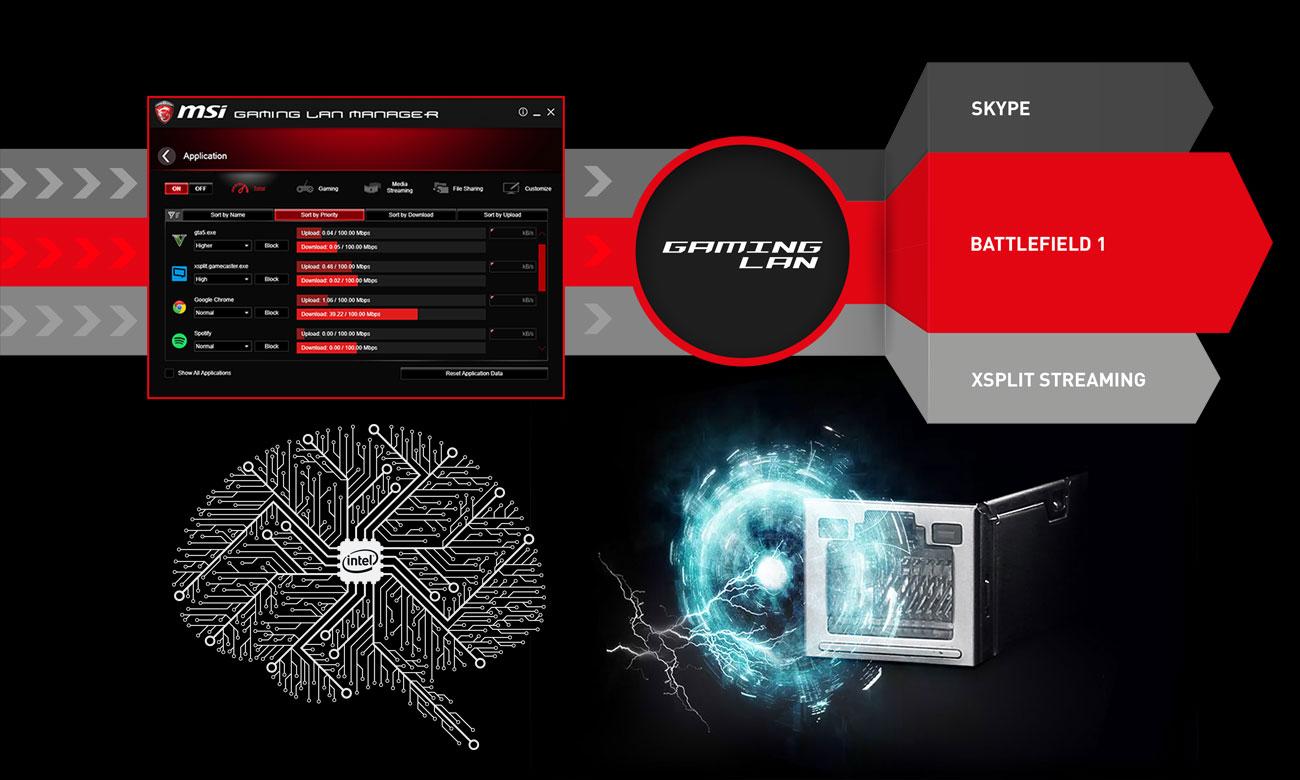 MSI Z370 GAMING PRO CARBON Intel LAN MSI Gaming LAN Manager