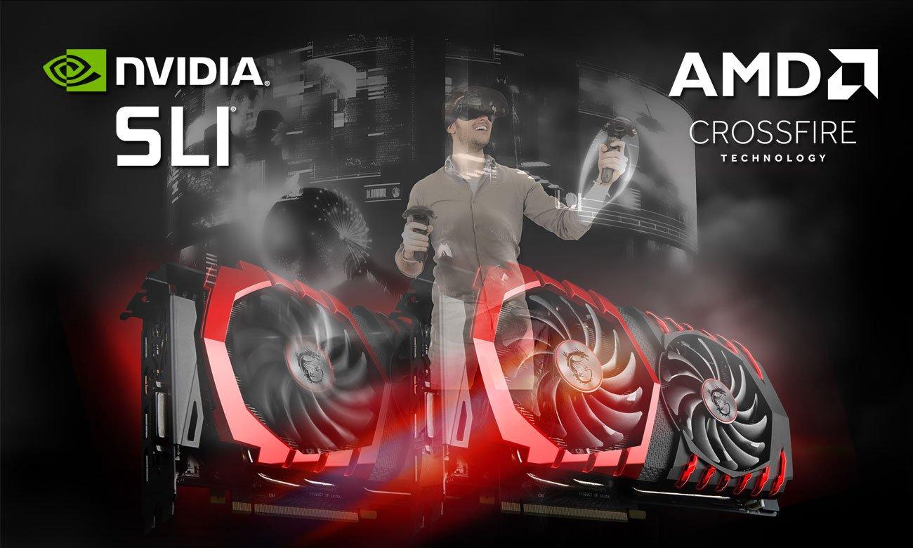 MSI Z370 GAMING PRO CARBON VR Ready NVIDIA SLI AMD CrossFire
