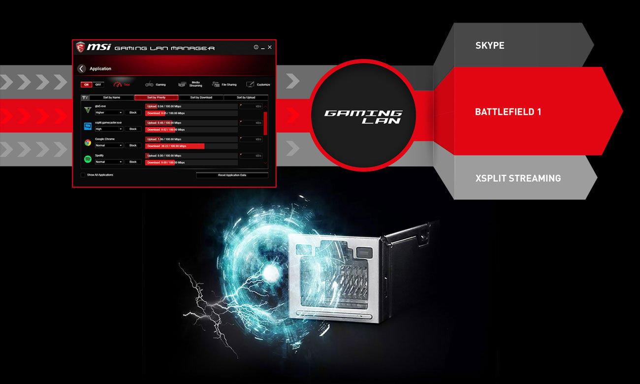 MSI Z370 KRAIT GAMING MSI Gaming LAN Manager