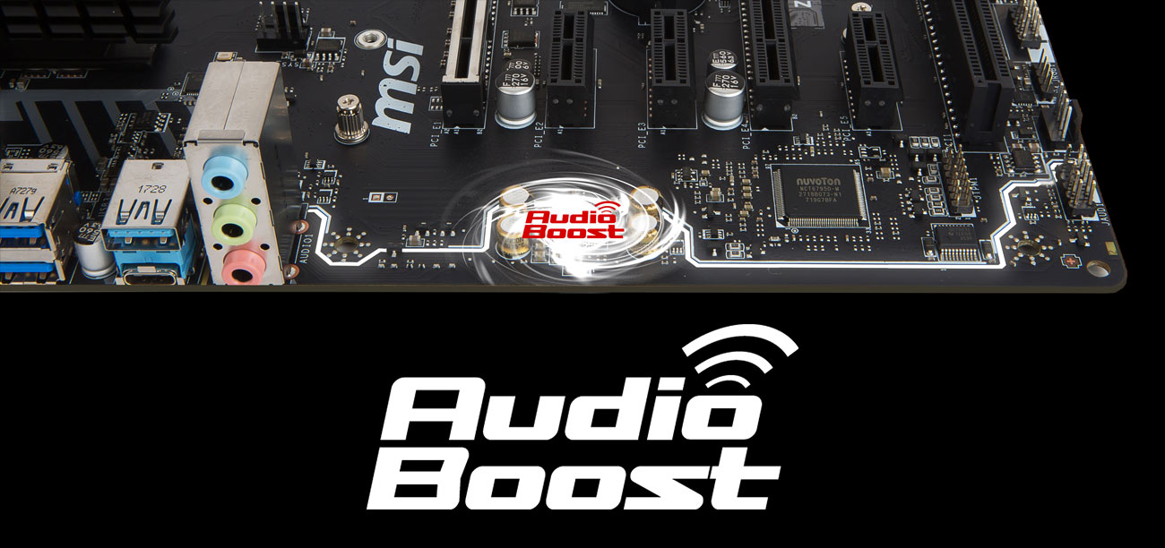 MSI Z370 PC PRO Audio Boost Realtek ALC887