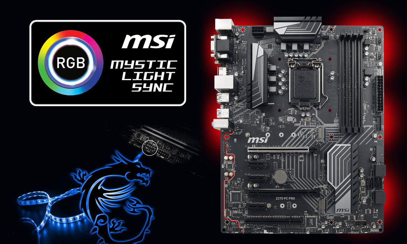 MSI Z370 PC PRO RGB Mystic Light