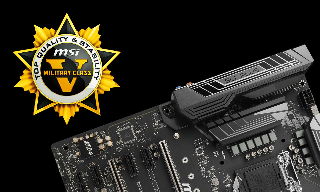 MSI Z370 SLI PLUS Steel Armor Military Class 5