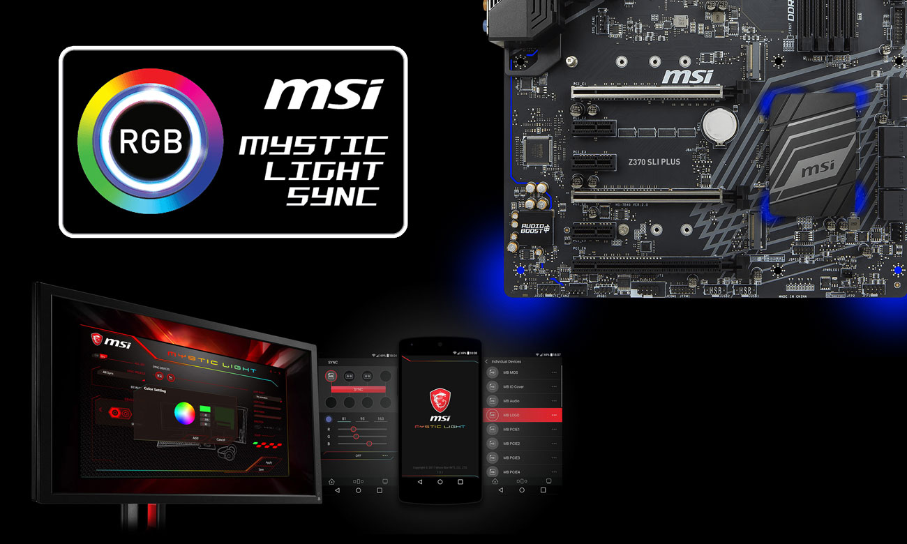 MSI Z370 SLI PLUS Mystic Light Sync