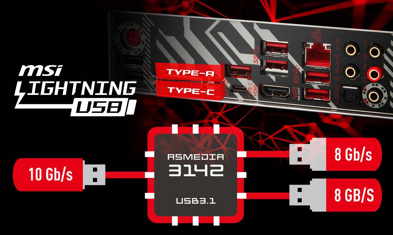 MSI Z370 TOMAHAWK Lightning USB 3.1 Gen2 ASMEDIA 3142