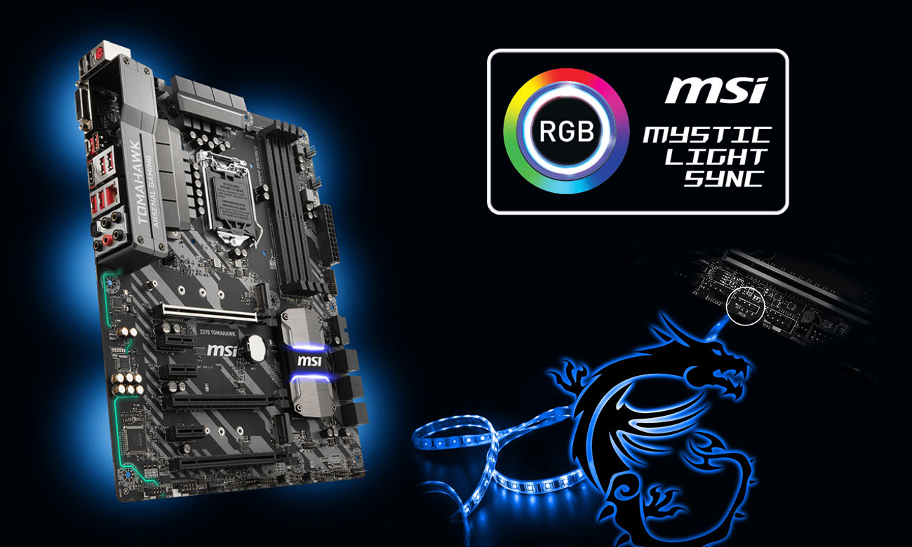 MSI Z370 TOMAHAWK RGB Mystic Light Sync