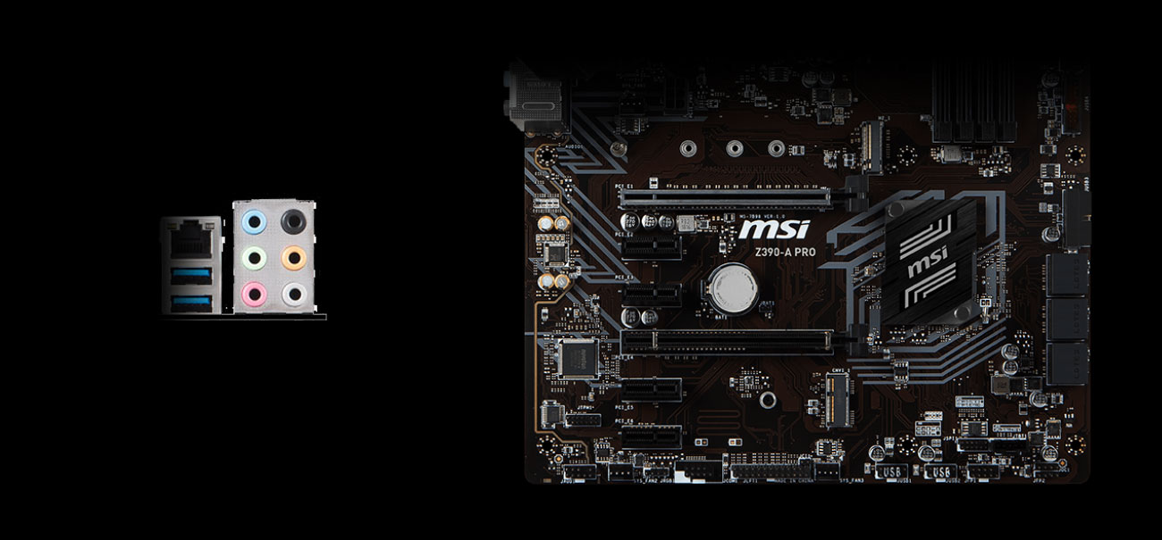 MSI Z390-A PRO Układ audio