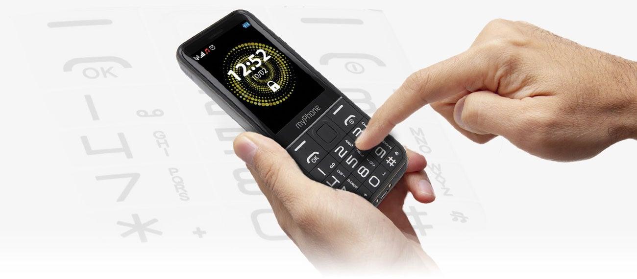 myPhone Halo Q duzy ekran wygodna klawiatura