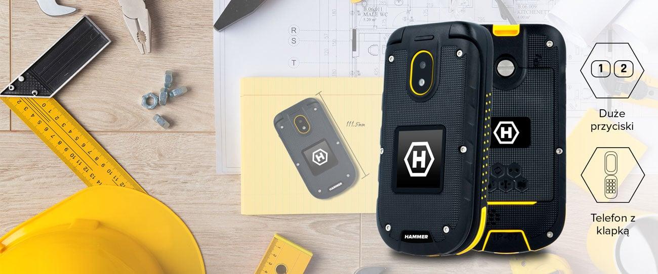myPhone Hammer BOW+ certyfikat IP68 drop test 1,5m