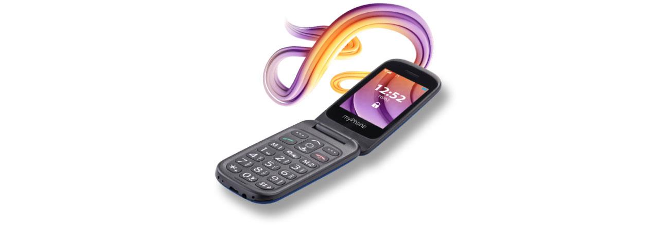 Telefon z klapką dla seniora