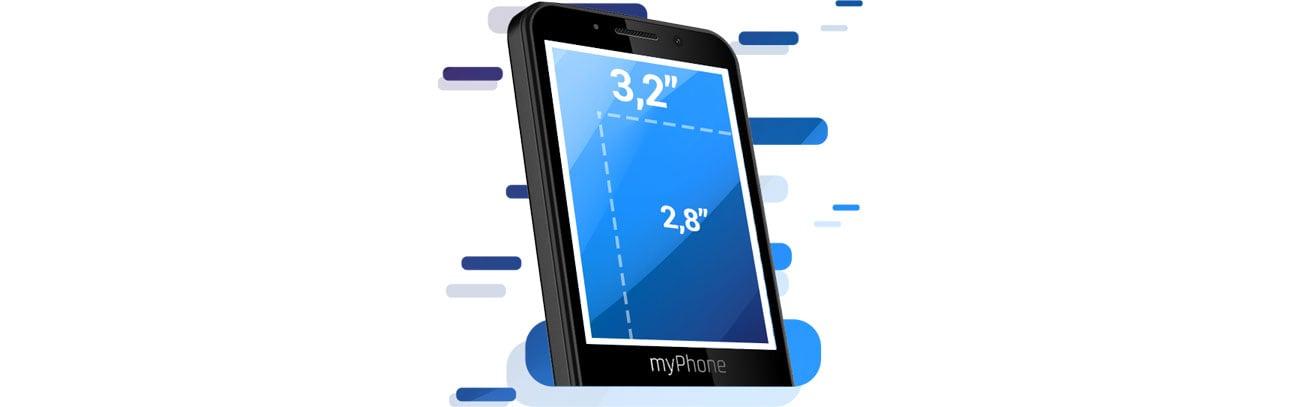 Telefon myPhone Up Smart LTE ekran 3,2-cala