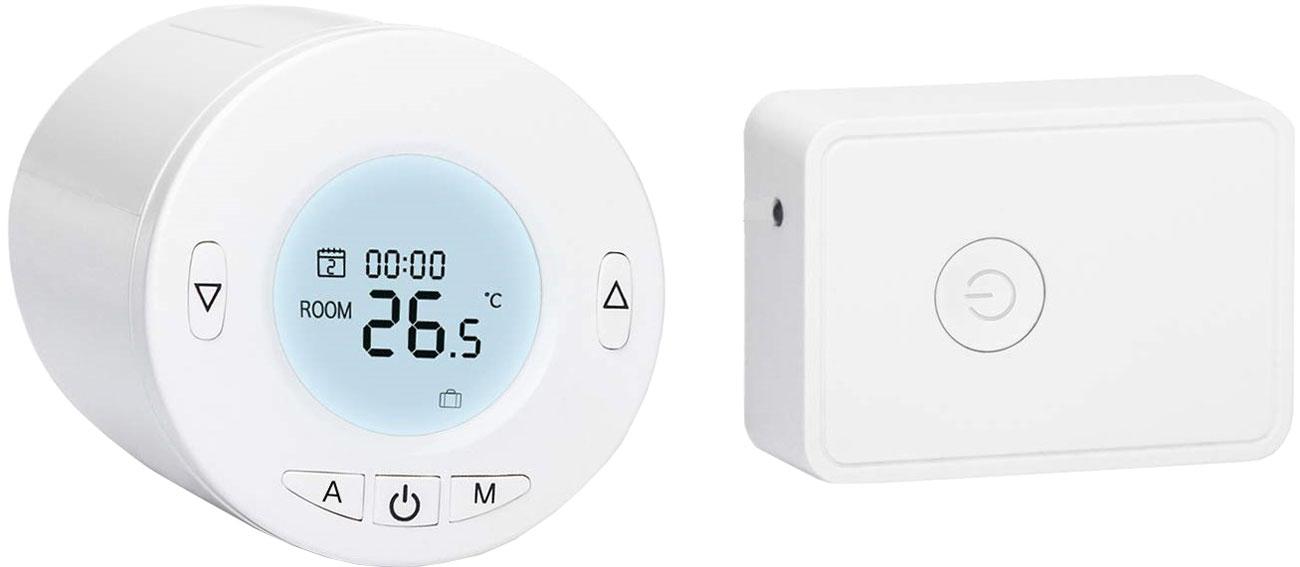 Meross MTS100H (głowica termostatyczna + przekaźnik)