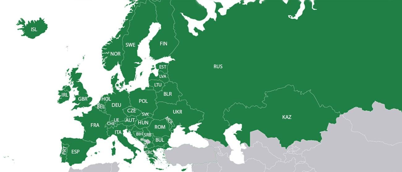 Dokładne mapy Europy