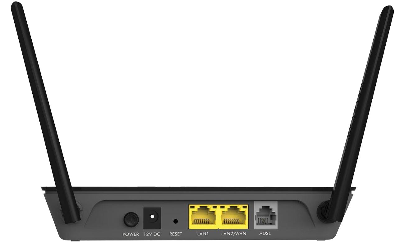 Netgear D1500 złącza