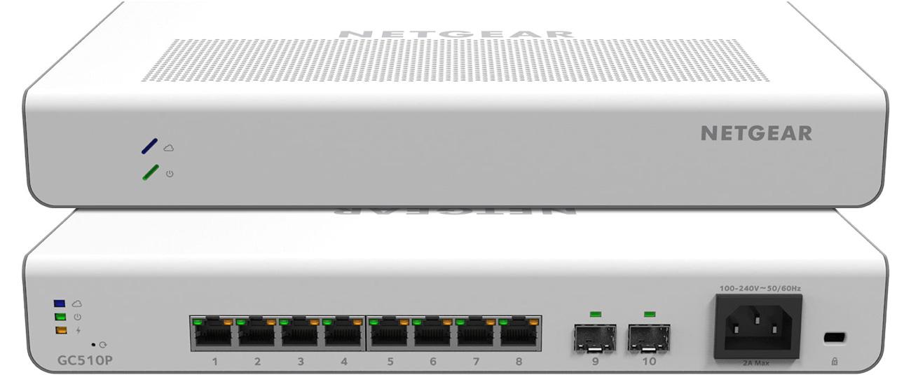 Switch Netgear 10p GC510P Smart Cloud 8x100/1000Mbit 2xSFP PoE+ GC510P-100EUS Insight