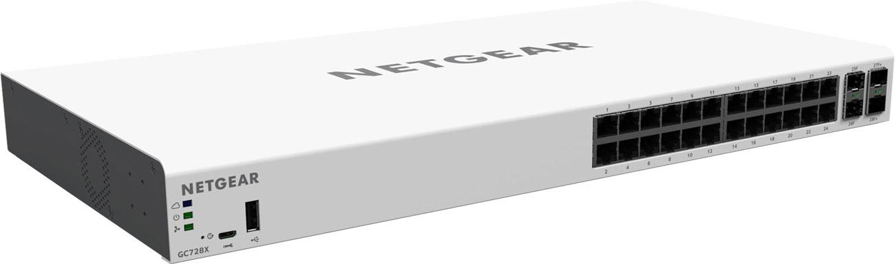 Switch Netgear 28p GC728X Smart Cloud 24x1000Mbit 2xSFP 2xSFP+