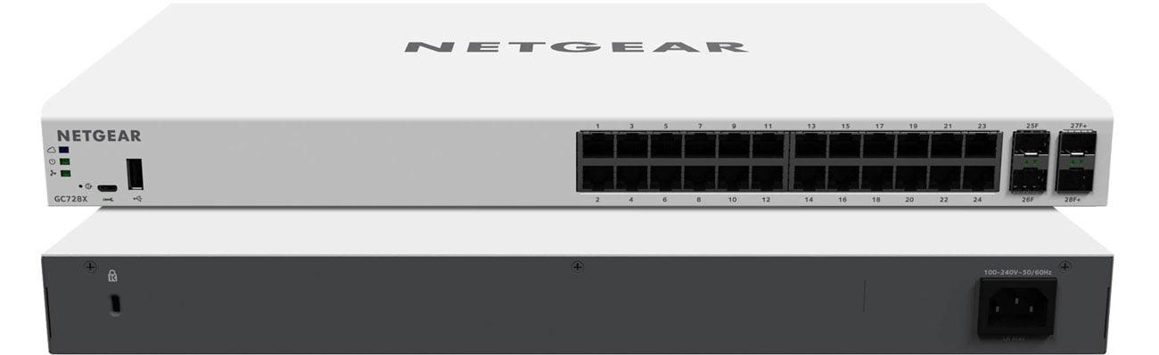 Netgear GC728X Przód i tył