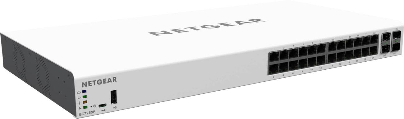 Switch Netgear 28p GC728XP Smart 24x1000Mbit 2xSFP 2xSFP+ PoE+
