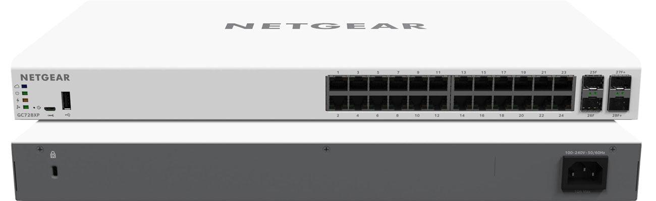 Netgear GC728XP Przód i tył
