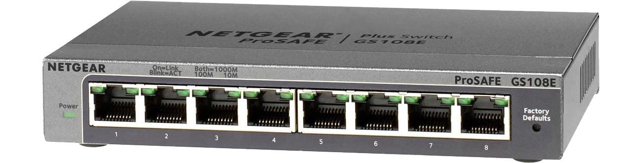 Switch Netgear 8p GS108E-300PES (8x10/100/1000Mbit)