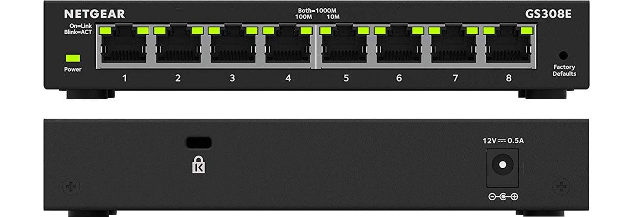 Switch Netgear 8p GS308E (8x10/100/1000Mbit)