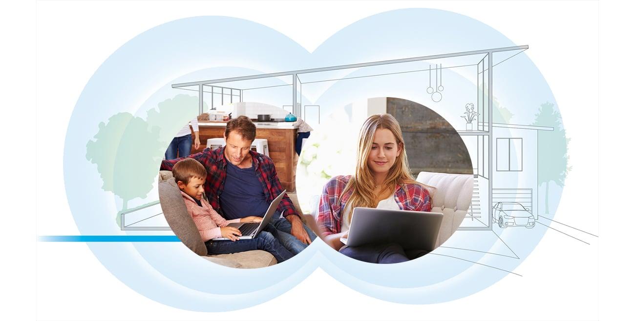 Netgear Orbi WiFi System Wall Plug trzypasmowe wifi
