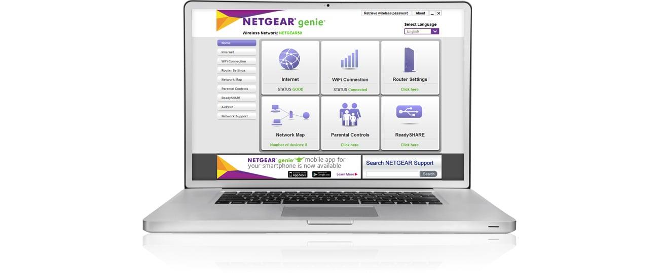 Router Netgear R6220 - NETGEAR Genie