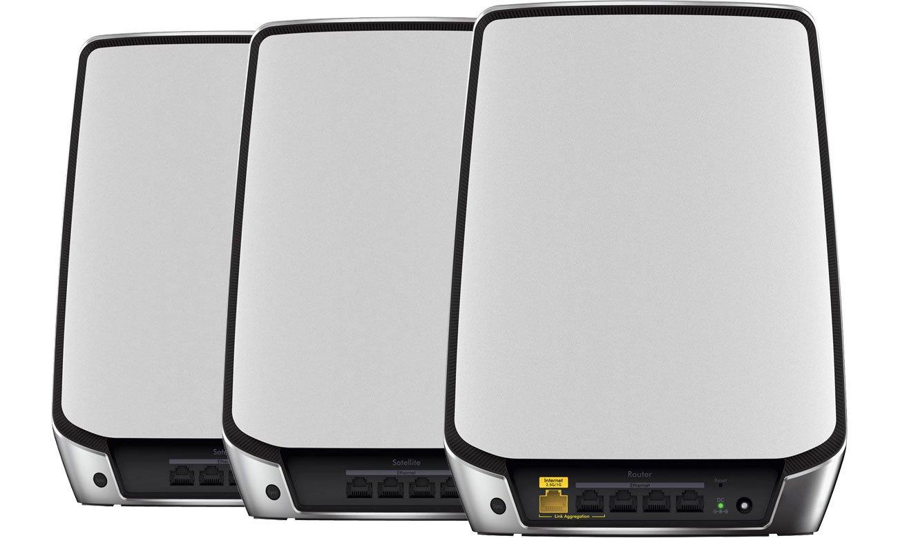 Netgear Orbi RBK853 - Router, satelita - złącza