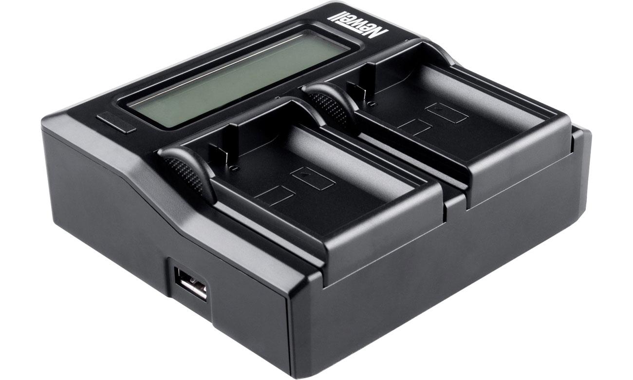 Ładowarka Newell DC-LCD do akumulatorów serii NP-FW