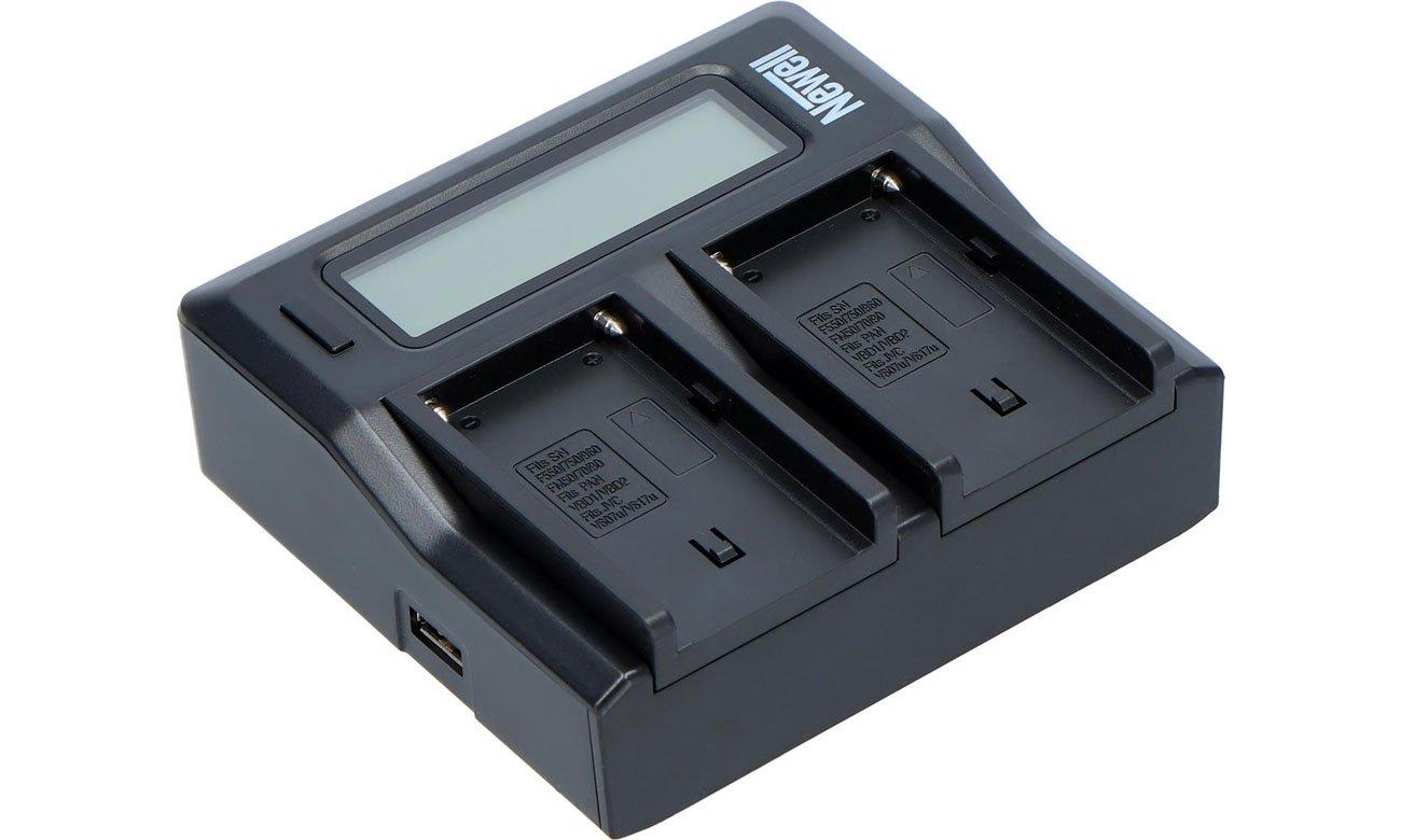 Ładowarka Newell DC-LCD do akumulatorów serii NP-FM